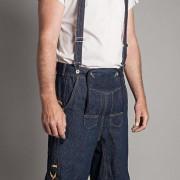 Jeanslederhose Blanko