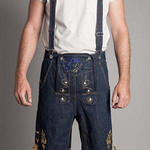 Jeans Lederhose Modell Goldader